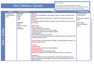 Athletics Year 1 Autumn