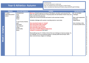 Athletics Year 6 Autumn