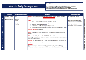 Gym- Body Management Year 4