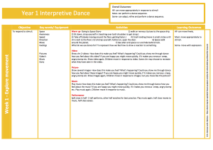 Interpretive Dance - Year 1